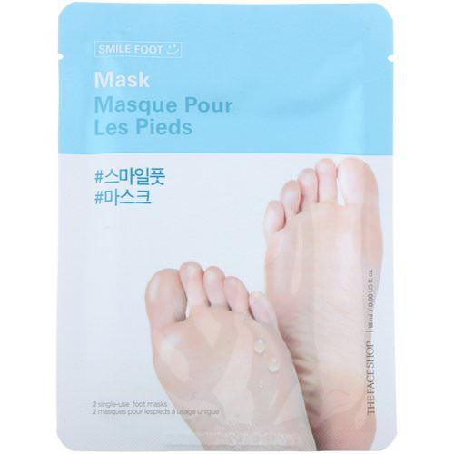 The Face Shop, Smile Foot Mask, 2 Single-Use Foot Masks Review