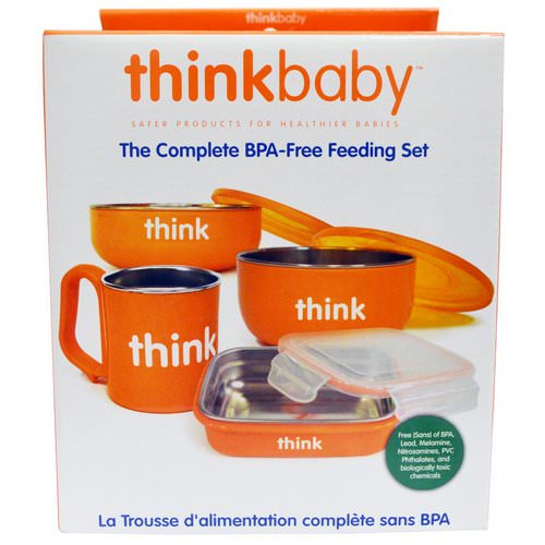 Think, Thinkbaby, The Complete BPA-Free Feeding Set, Orange, 1 Set Review