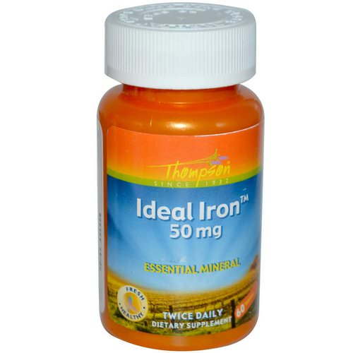 Thompson, Ideal Iron, 50 mg, 60 Tablets Review