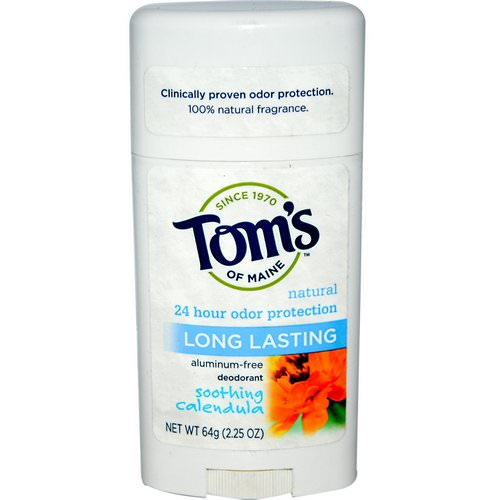 Tom's of Maine, Natural Long Lasting Deodorant, Aluminum-Free, Soothing Calendula, 2.25 oz (64 g) Review
