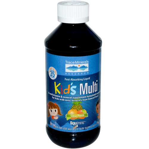 Trace Minerals Research, Kid's Multi, Citrus Punch, 8 fl oz (237 ml) Review
