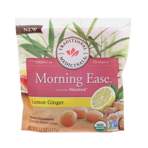 Traditional Medicinals, Organic, Morning Ease, Lemon Ginger, 30 Individually Wrapped Lozenges, 4.13 oz (117 g) Review