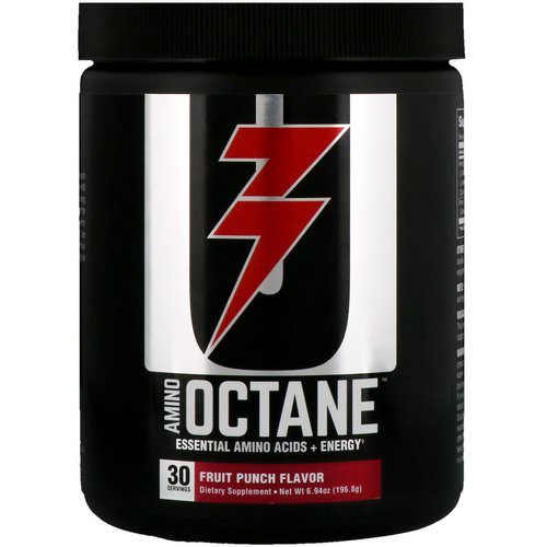 Universal Nutrition, Amino Octane, Essential Amino Acids + Energy, Fruit Punch, 6.94 oz(196.8 g) Review