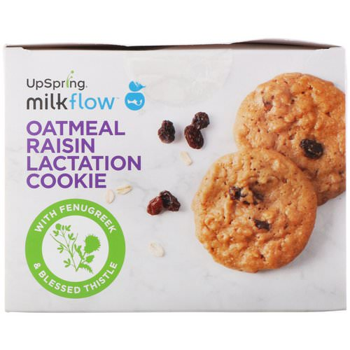 UpSpring, Milkflow, Lactation Cookies, Oatmeal Raisin, 10 Packets, 2 Cookies Each Review