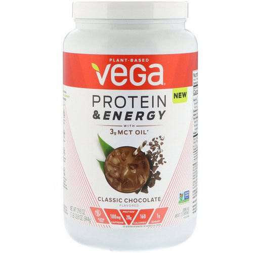 Vega, Protein & Energy, Classic Chocolate, 1.86 lbs (844 g) Review