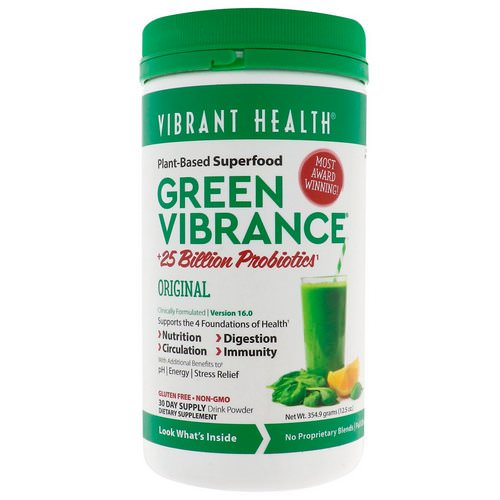 Vibrant Health, Green Vibrance +25 Billion Probiotics, Version 16.0, 12.5 oz (354.9 g) Review