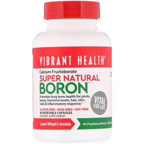 Vibrant Health, Super Natural Boron, 60 Vegetable Capsules Review