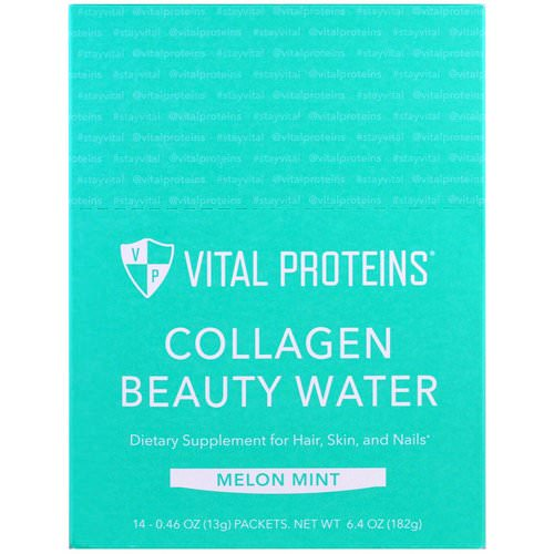 Vital Proteins, Collagen Beauty Water, Melon Mint, 14 Packets, 0.46 oz (13 g) Each Review
