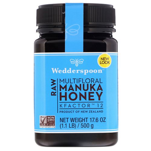 Wedderspoon, Raw Multifloral Manuka Honey, KFactor 12, 17.6 oz (500 g) Review