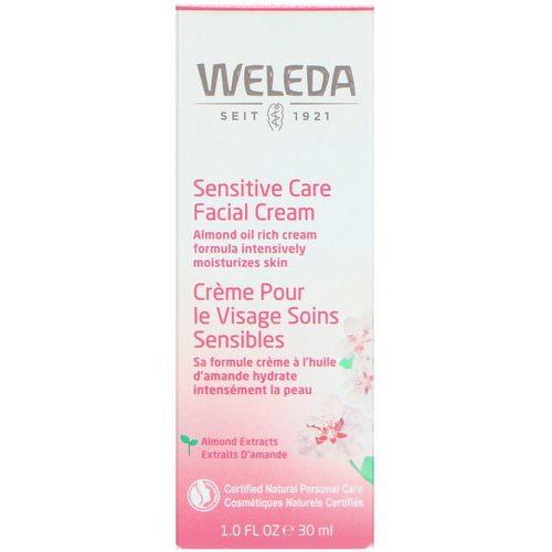 Weleda, Sensitive Care Facial Cream, Almond Extracts, Sensitive & Dry Skin, 1.0 fl oz (30 ml) Review