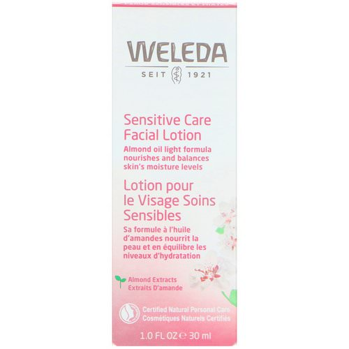 Weleda, Sensitive Care Facial Lotion, Almond Extracts, Sensitive & Combination Skin, 1.0 fl oz (30 ml) Review