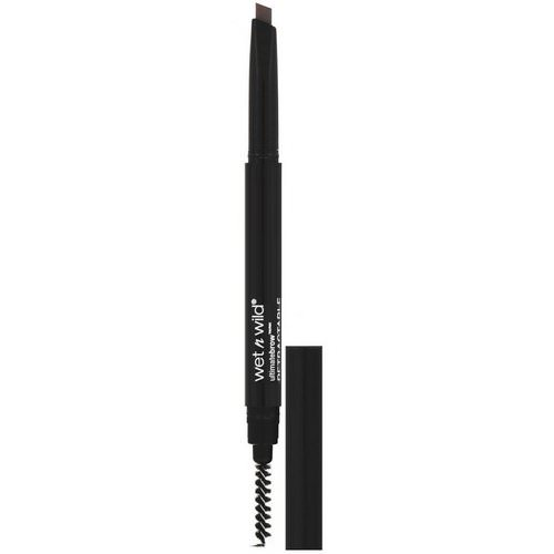 Wet n Wild, Ultimate Brow Retractable Brow Pencil, Medium Brown, 0.007 oz (0.2 g) Review