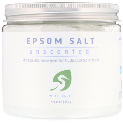White Egret Personal Care, Epsom Salt, Unscented, 16 oz (454 g) Review