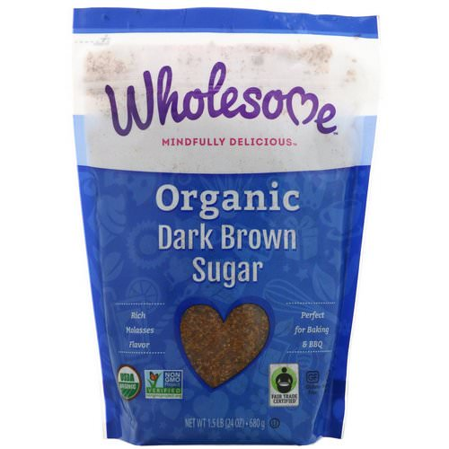 Wholesome, Organic Dark Brown Sugar, 1.5 lbs (24 oz.) - 680 g Review