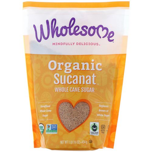 Wholesome, Organic Sucanat, Whole Cane Sugar, 16 oz (454 g) Review