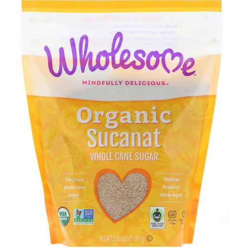 Wholesome, Organic Sucanat, Whole Cane Sugar, 2 lb (907 g) Review