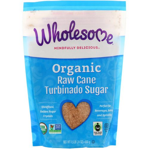 Wholesome, Organic Turbinado, Raw Cane Sugar, 1.5 lbs (24 oz.) - 680 g Review