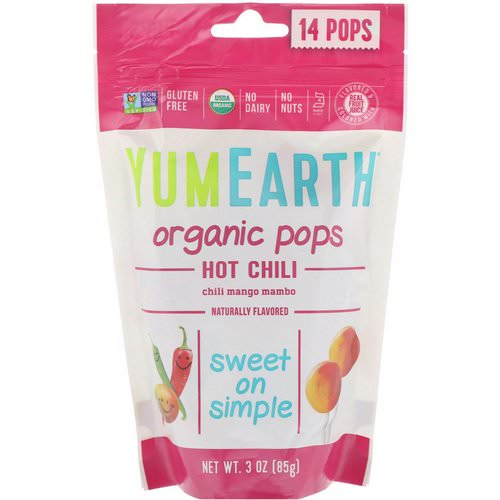 YumEarth, Organic Hot Chili Pops, Chili Mango Mambo, 14 Pops, 3 oz (85 g) Review