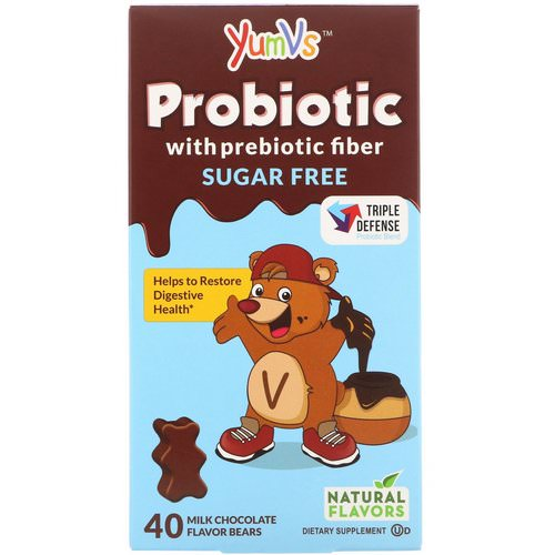 YumV's, Probiotic with Prebiotic Fiber, Milk Chocolate, Sugar-Free, 40 Bears Review