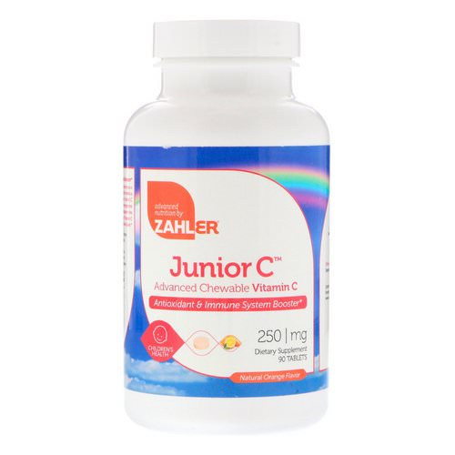 Zahler, Junior C, Advanced Chewable Vitamin C, Natural Orange Flavor, 250 mg, 90 Tablets Review