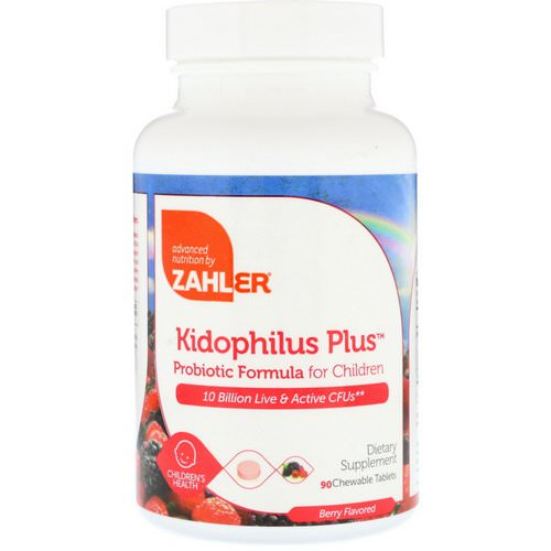 Zahler, Kidophilus Plus, Probiotic Formula For Children, Berry Flavored, 90 Chewable Tablets Review