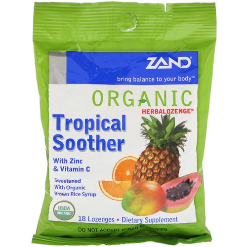Zand, Organic Herbalozenge, Tropical Soother, 18 Lozenges Review