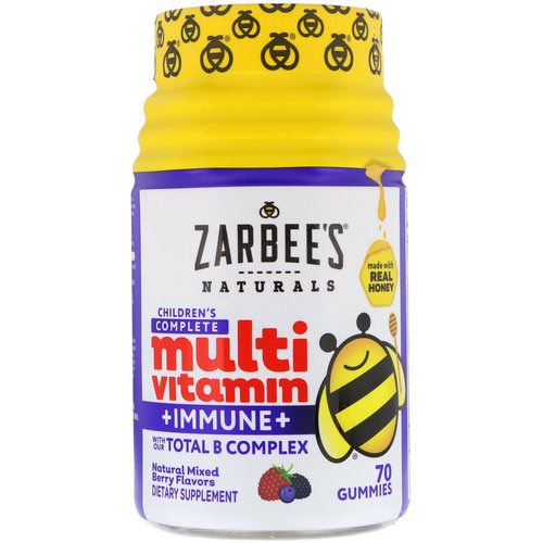 Zarbee's, Children's Complete Multivitamin + Immune, Natural Mixed Berry Flavors, 70 Gummies Review